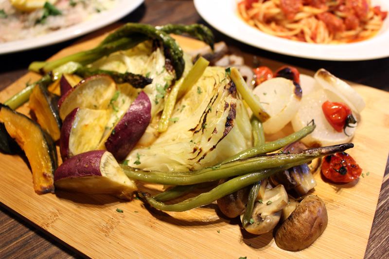 旬の野菜の窯焼き